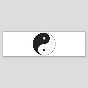 Ying Yang Yoga Bumper Sticker