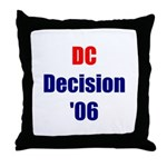 DC Decision '06 Throw Pillow