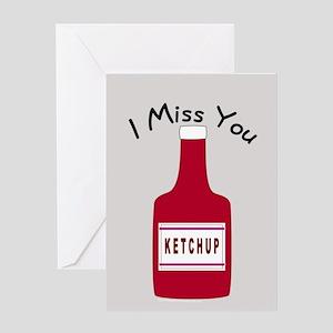 Cute I Miss You Greeting Card
