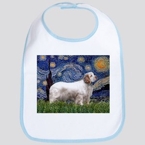 Starry Night Clumber Spaniel Bib