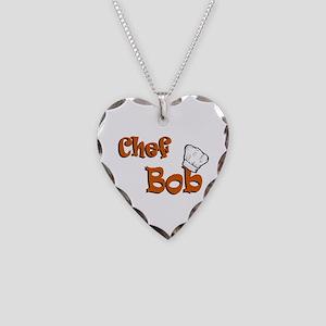 CHEF Bob Necklace Heart Charm