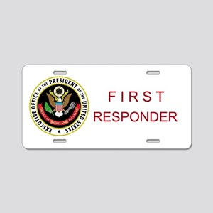 FIRST RESPONDER Aluminum License Plate