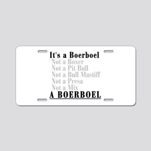It's a Boerboel Aluminum License Plate