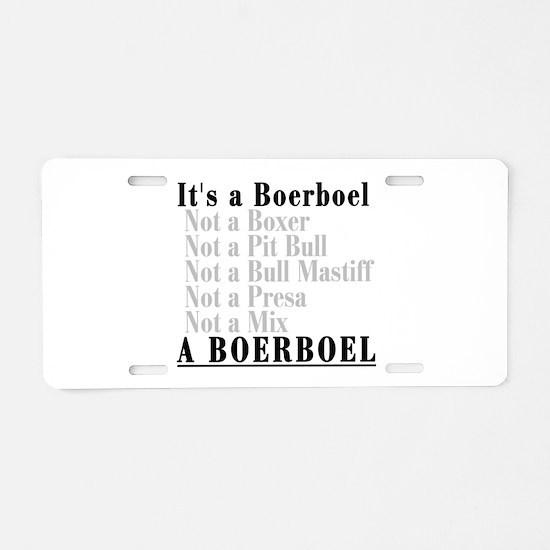 It's a Boerboel Aluminum License Plate