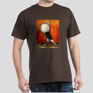 Voorburg Cropper Blue Check Dark T-Shirt