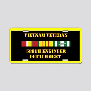 588th Engineer Detachment Aluminum License Plate