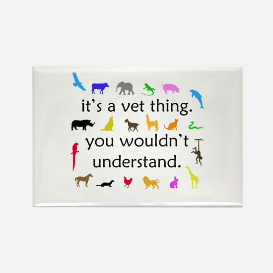 It's A Vet Thing Rectangle Magnet