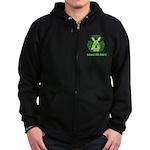 recycle bunny Zip Hoodie (dark)