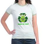 recycle bunny Jr. Ringer T-Shirt