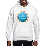 ring of fire pacific ocean Hooded Sweatshirt