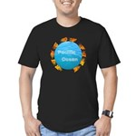 ring of fire pacific ocean Men's Fitted T-Shirt (d