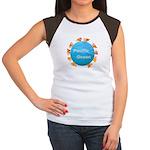 ring of fire pacific ocean Women's Cap Sleeve T-Sh