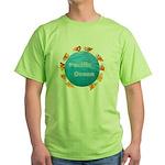 ring of fire pacific ocean Green T-Shirt