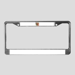 Wooden Storage Shed License Plate Frame
