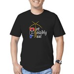 not possibly real Men's Fitted T-Shirt (dark)