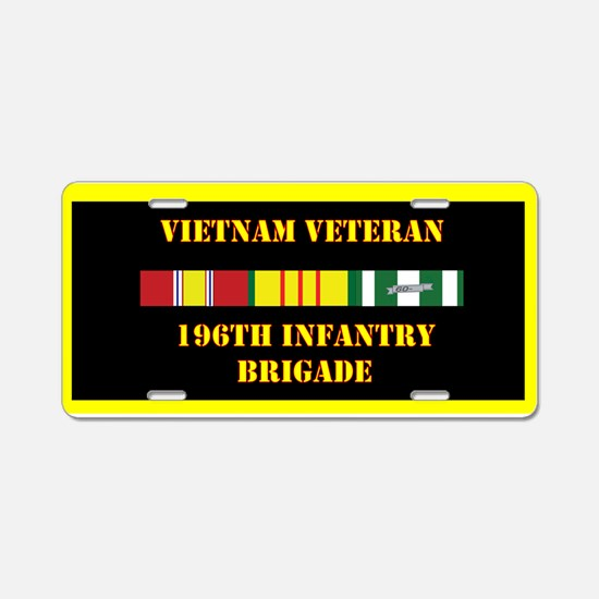 196th Infantry Brigade Aluminum License Plate