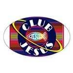Club Jesus Sticker (Oval 10 pk)