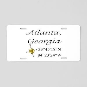 Geocaching Atlanta, Georgia Aluminum License Plate