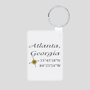 Geocaching Atlanta, Georgia Aluminum Photo Keychai