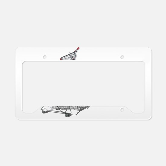 Shopping in Balance License Plate Holder