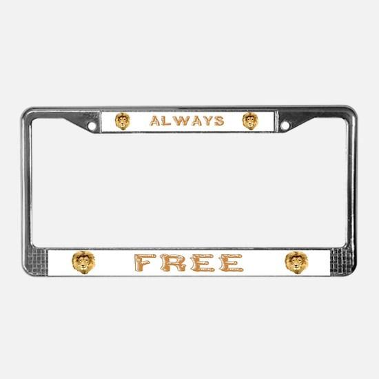 Lion Den License Plate Frame