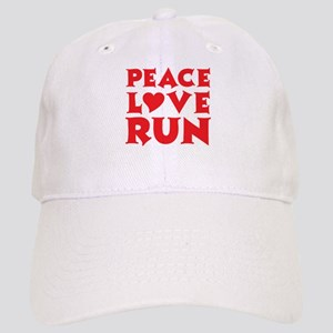 Peace Love Run - red Cap