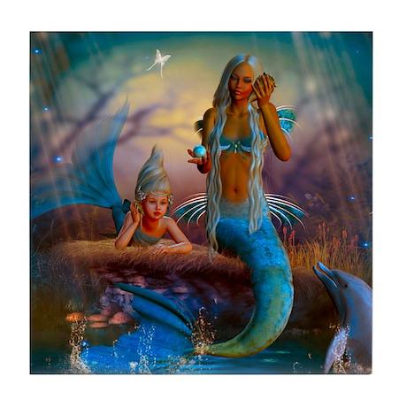 Best Seller Merrow Mermaid Tile Coaster