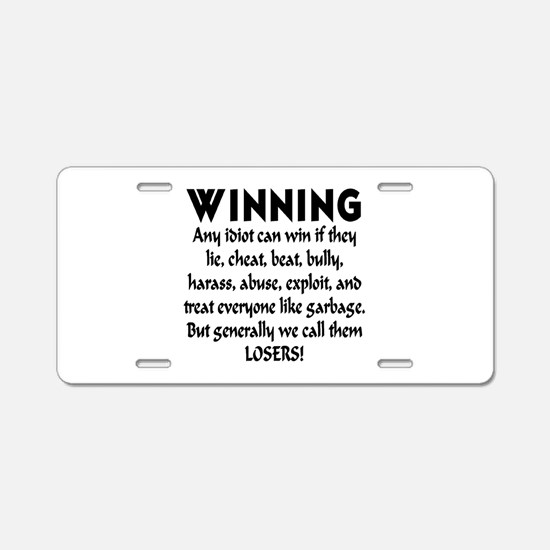 Winning Aluminum License Plate