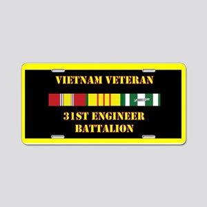 31st Engineer Battalion Aluminum License Plate