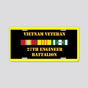 27th Engineer Battalion Aluminum License Plate