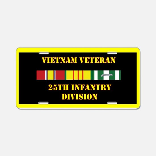 25th Infantry Division Aluminum License Plate