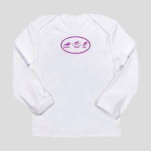 Swim Bike Run Long Sleeve Infant T-Shirt