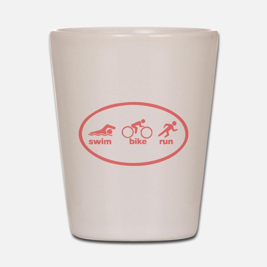 Swim Bike Run Shot Glass