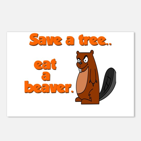 Funny Save A Tree Postcards (Package of 8)