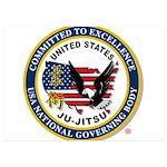 US JU-JITSU 5x7 Flat Cards (Set of 10)