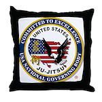 US JU-JITSU Throw Pillow