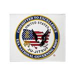 US JU-JITSU Plush Fleece Throw Blanket