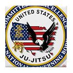 US JU-JITSU Tile Coaster
