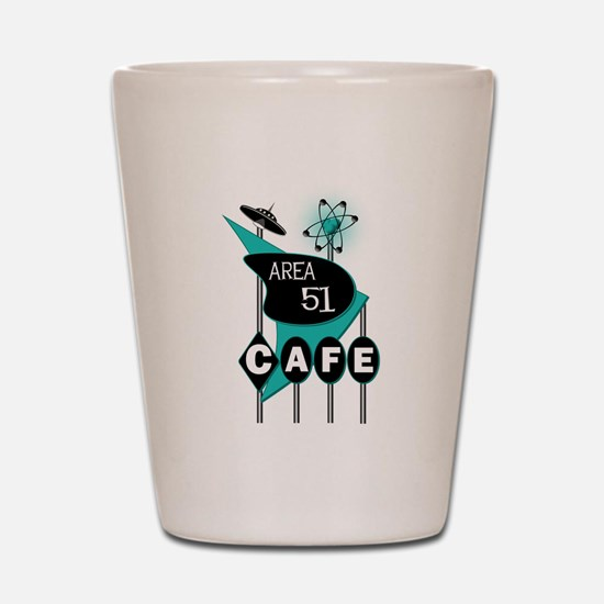 Area 51 Cafe Shot Glass