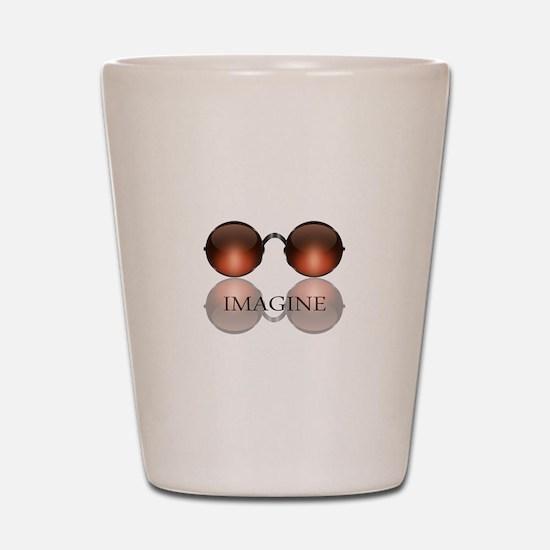 Imagine Rose Colored Glasses Shot Glass