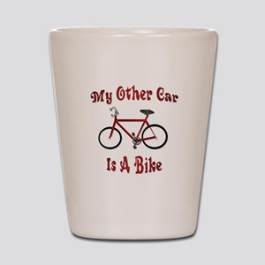 My Other Car Is A Bike Shot Glass