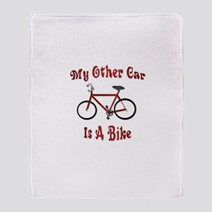 My Other Car Is A Bike Throw Blanket