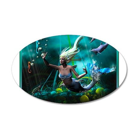Best Seller Merrow Mermaid 38.5 x 24.5 Oval Wall P