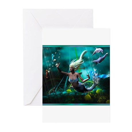 Best Seller Merrow Mermaid Greeting Cards (Pk of 1