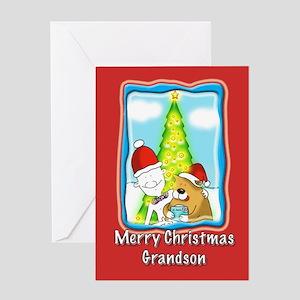 Letter to Santa, Grandson Greeting Card