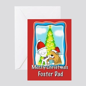 Letter to Santa, foster dad Greeting Card