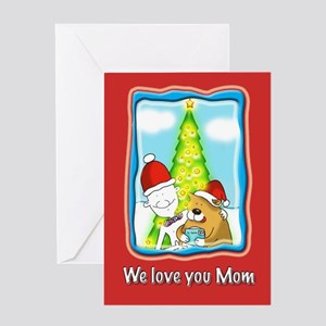 Letter to Santa, Xmas Mom Greeting Card