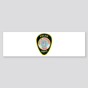Crockett Police Sticker (Bumper)