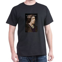Playwright Oscar Wilde Black T-Shirt