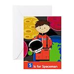 Cute Little Spaceman Greeting Card